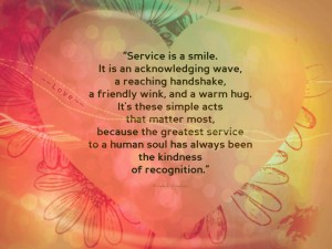 Service with heart