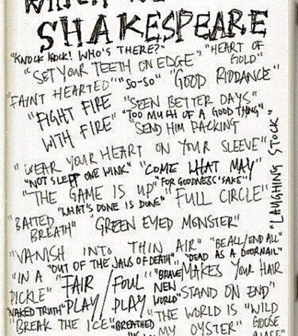 A slave to Shakespeare ;-)
